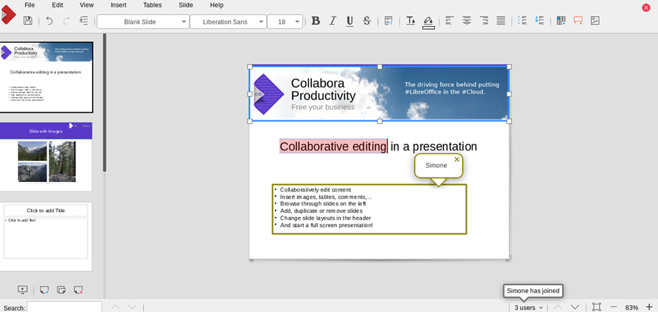 VirtualOffice Presentation Editing